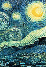 Van Gogh's Starry Night - one way of looking at the stars